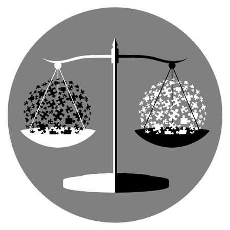9554878 - black and white balance symbol